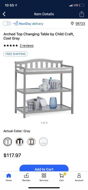 Gray Child Craft Changing Table for Sale in Matawan, NJ
