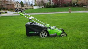 Electric/battery mower Greenworks 20-Inch 40V Twin Force Cordless Lawn Mower, 2.0 AH Batteries Included 25302 for Sale in Englishtown, NJ