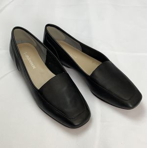 Enzo Angiolini Liberty Black Leather Slip-on Loafers Classic slip-on flats for Sale in Vancouver, WA