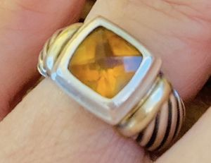 David Yurman Citrine Cable Ring 5 1/2 size for Sale in Buford, GA