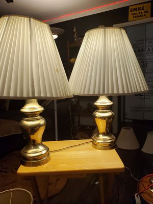 A pair of sunset lamp corp. Brass lamps for Sale in Chula Vista, CA