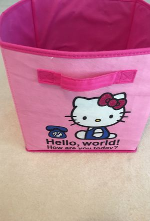 Two sided Hello Kitty storage cube for Sale in Flower Mound, TX