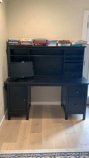 Large, sturdy study / computer desk with storage! for Sale in Santa Clara, CA