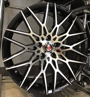"GREAT DEAL! Brand new 18"" Axe EX26 Mesh Style Polished Gloss Black Rims Wheels 5x4.5 Civic Accord Camry Lenso for Sale in Tampa, FL"