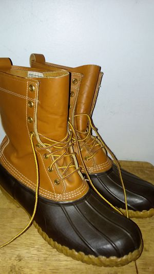 LL BEAN RUBBER DUCK BOOTS sz 12 for Sale in Suitland, MD