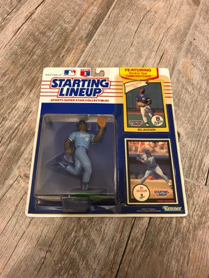 Starting Lineup Bo Jackson Action Figure Collectable Toy with rookie Baseball trading Card for Sale in Davie, FL