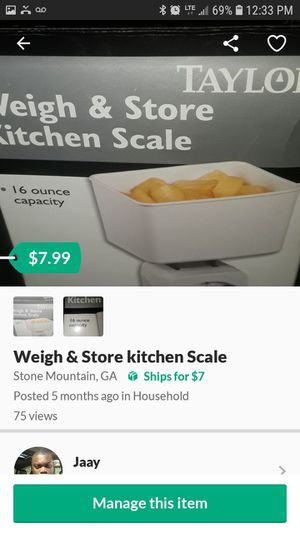 Weigh and Store Kitchen scale for Sale in Stone Mountain, GA