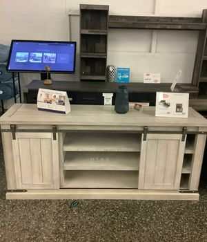 "🍻🍾 $39 Down Payment 🕊      Carynhurst Whitewash Large TV Stand | W755-48 60""W x 20""D x 30""H 636 for Sale in Jessup, MD"