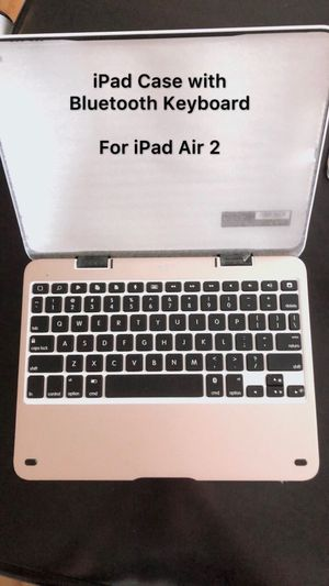 iPad Case with Bluetooth Keyboard For iPad Air 2 for Sale in Mount Crawford, VA