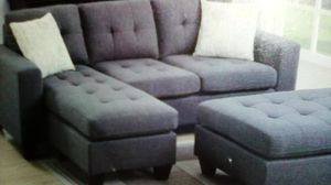 Sofa Sectional w/storage compartment and ottoman. for Sale in North Highlands, CA