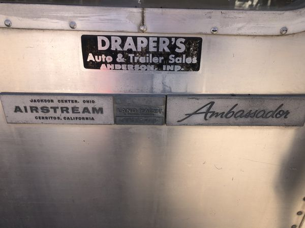 1969 Airstream Ambassador
