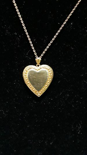14k gold filled necklace charm heart locket for Sale in Pomona, CA