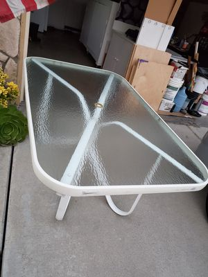 PATIO GLASS TABLE for Sale in West Covina, CA