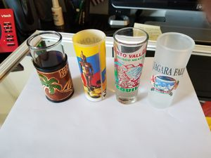 International shot glasses 4 items for Sale in Lowell, MA
