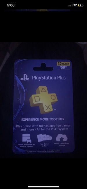 PlayStation Plus 1 Year Membership For PS4, PS3, etc. for Sale in Indianapolis, IN