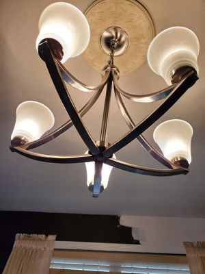 Gorgeous silver chandelier for Sale in Houston, TX