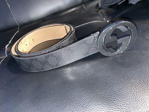 Gucci black GG imprime belt for Sale in Secaucus, NJ