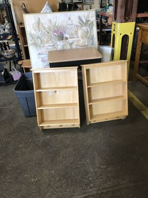 Two solid wood wall shelves. $10 each. for Sale in Fredericktown, OH