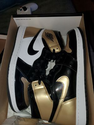 Jordan 1 size 10.5 gold toe patent leather for Sale in San Antonio, TX