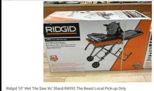 Ridgid 10-inch wet tile saw with stand combo brand new in the box for Sale in Stockton, CA
