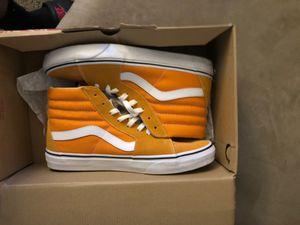 Orange skate high vans size 10 for Sale in San Antonio, TX