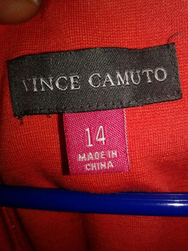 Vicnce camuto sz 14 orange white and black