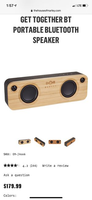 House of Marley Get Together Bluetooth Speaker for Sale in Safety Harbor, FL