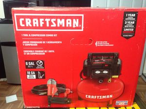 Craftsman 1 tool and compressor combo kit. for Sale in Pompano Beach, FL