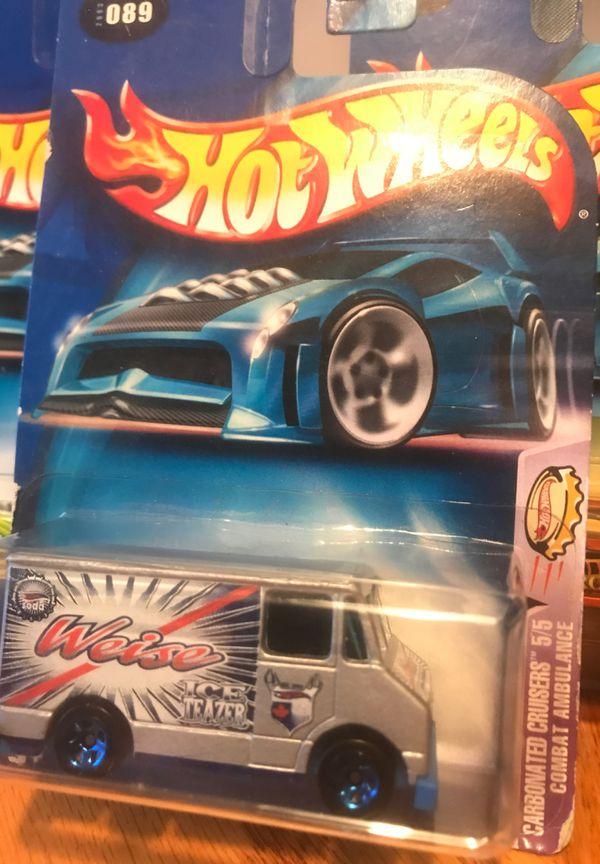 Hot Wheels #89 Combat Ambulance Carbonated Cruisers 5/5 2004 . (2) .. 2/5 MX - 48 Turbo .. (1). 4/5. Monopost .. (1) .. 1/5 . Chevrolet ..