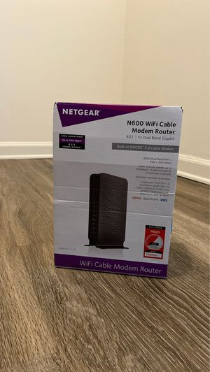Netgear N600 WiFi Cable Modem Router for Sale in Aloma, FL
