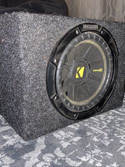 8'' Kicker Comp C Subwoofer In Custom Box for Sale in Carlsbad,  CA