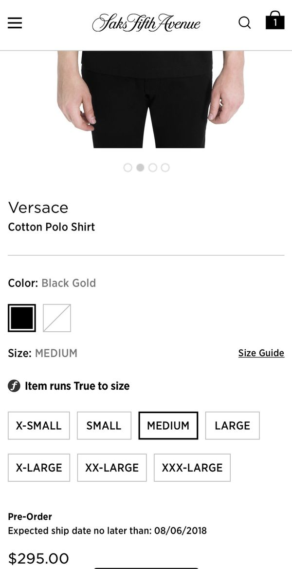 Versace Embroidered Medusa Polo Shirt Gold logo