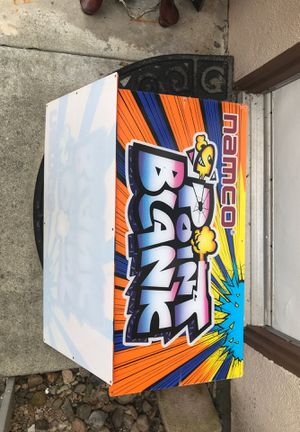 Namco POINT BLANK marqueee arcade video game sign BRANDNEW for Sale in Anaheim, CA