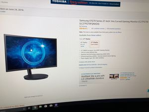 Alienware+2 27in 1ms curved monitors for Sale in Miami, FL
