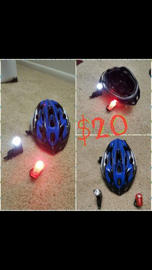Bicycle helmet and front & back lights all together $20 for Sale in Atlanta, GA