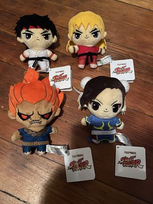 Street fighter plushies Ryu Ken Akuma Chun-li for Sale in Los Angeles, CA