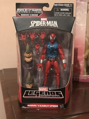 Marvel legends Scarlet Spider with Rhino BAF heads new sealed. for Sale in Glendale, CA
