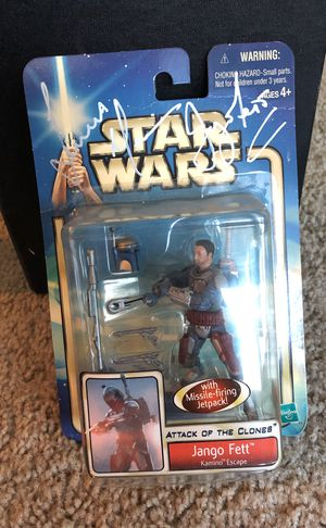 *autographed* Jango Fett action figure and collectibles for Sale in Austin, TX