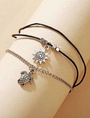 Cute NEW turtle and sun layered anklet for Sale in San Diego, CA