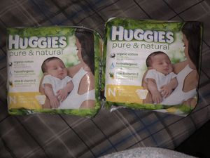 diapers huggies pure and natural newborn 20-Count for Sale in Dallas, TX