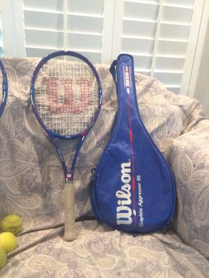 Two tennis rackets including cases in very good condition asking$35 orbest for Sale in Perris, CA