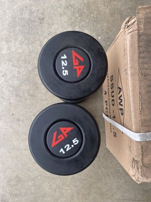 New GP commercial grade urethane dumbbells 12.5lbs pair for Sale in Walnut, CA