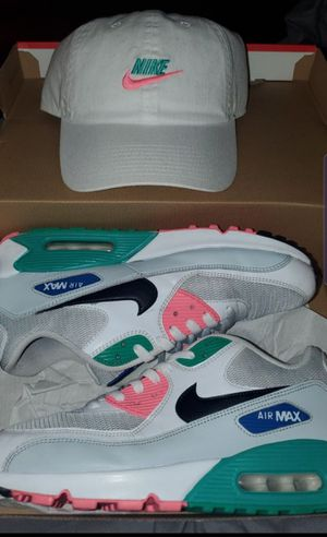 Mens air max 90 watermelon (size 10 )+ matching hat cash only price is negotiable for Sale in Fresno, CA