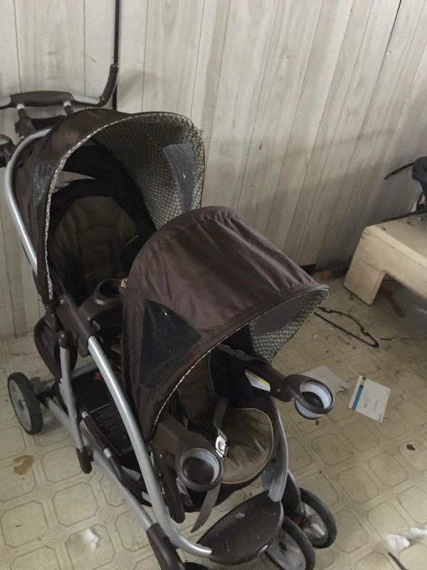 Graco double seated stroller