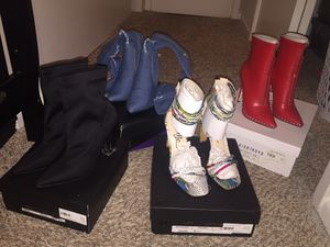 4 pairs of heels and booties for Sale in Katy, TX