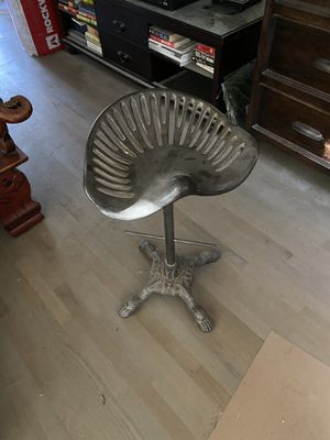 Farm Tractor Seat Wrought Iron Bar Stool for Sale in Los Angeles, CA