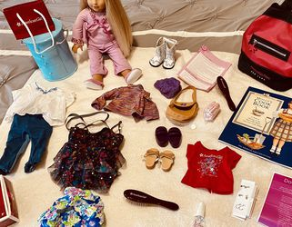 American Doll Molly with Backpack, Jewelry Box, Cookbook & More for Sale in Charlotte,  NC
