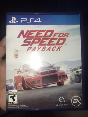 Need for speed payback ps4 for Sale in Compton, CA
