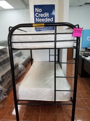 Metal Bunk Bed Litera [Twin x Twin $370][Twin x Full $450][Full x Full $490][Only $50 Down] [90 Days to Pay Cash Price No Interest] for Sale in Irving, TX
