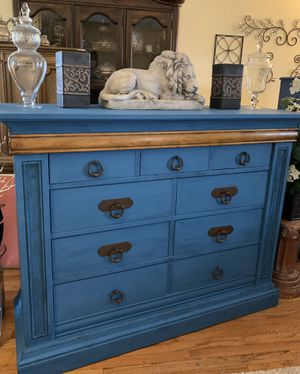 Stunning Klaussner Dark Teal Distressed Bureau for Sale in South Barrington, IL